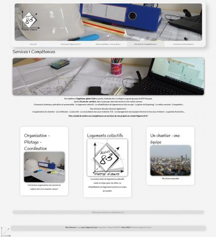 Site web de l'Agence 8.3 - Pages by Tybografik